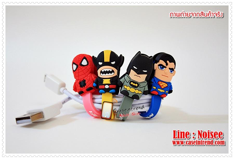 ที่รัดสายชาร์จโทรศัพท์ Super Hero