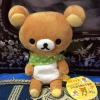 ตุ๊กตาหมี ริลัคคุมะ ผูกผ้าพันคอสีเขียว san-x ขนาด 8 นิ้ว