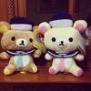 ตุ๊กตา เซ็ตคู่ ลาย Rilakkuma (หมีน้ำตาล) และ Korilakkuma (หมีสีครีม) ขายเป็นคู่ ขนาด7นิ้ว