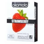 Okamoto Strawberry (ถุงยางอนามัยโอกาโมโต สตรอเบอร์รี่) 52 มม.