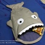 ถุงนอน ที่นอนเด็ก ลายปลาฉลาม มีสีเทา แรกเกิด-3ขวบ