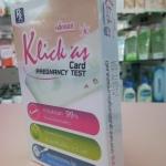 ชุดตรวจการตั้งครรภ์ ชนิดหยด ใช้งานง่าย รุ่น Klick as แบบหยด ( ที่ตรวจครรภ์ ใช้งานง่าย แบบหยด )