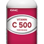 GNC Vitamin C 500mg จีเอ็นซี วิตามิน ซี 500มก. ชนิดออกฤทธิ์เนิ่น 90 Tablets Code: 017411 เลขทะเบียน อย. 1C 46/43
