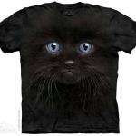 เสื้อยืด3Dสุดแนว(BLACK KITTEN FACE T-SHIRT)