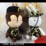 ตุ๊กตากระรอกและกระต่าย จากซีรี่ Descendant of the Sun ใส่ชุดทหาร