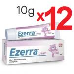 EZERRA 10g แพค 12 ชิ้น รวม 120g (เฉลี่ยหลอดละ 116 บาท) ขนาดทดลอง 12 หลอด รักษาผิวหน้าที่ติดสเตียรอยด์ ให้กลับมาดีกว่าเดิม เพิ่มความชุ่มชื้น คืนความแข็งแรงสู่ผิว ***หายาก**