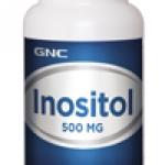 GNC Inositol 500mg จีเอ็นซี อิโนซิทอล 500 มก. 100 Vegetarian Tablets Code: 012313 เลขทะเบียน อย. 10-3-02940-1-0068