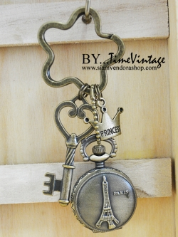 พวงกุญแจนาฬิกาน่ารักลาย Princess Paris