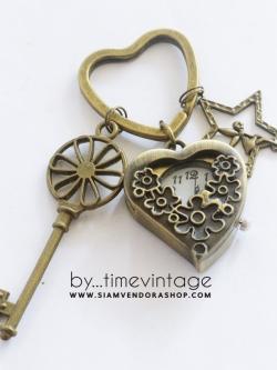พวงกุญแจนาฬิกา FLOWER HEART ของขวัญสำหรับคู่จิ้นให้แฟน ดอกรักบานในใจ