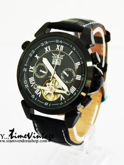 """นาฬิกาข้อมือกลไกโครงดำ """"Mechanical Date Tourbillon Wrist Watch"""" (พร้อมส่ง)"""