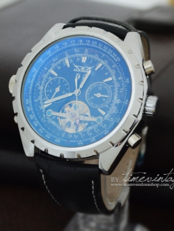 ***พร้อมส่ง***นาฬิกาข้อมือ หน้าปัดกลไก สีน้ำเงิน Jaragar Army Military Style Mens Mechanical Watch (ส่งฟรี)
