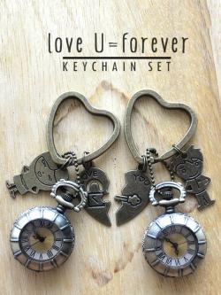 เซทนาฬิกาพวงกุญแจคู่รัก Boy-n-Girl