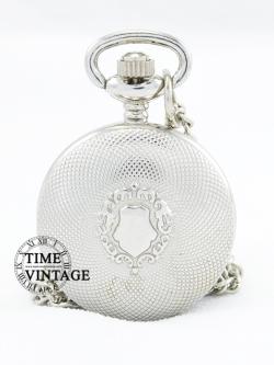 ***พร้อมส่ง***นาฬิกาสร้อยคอสีเงินลาย Europe Classic Design