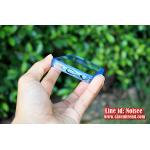 เคส iPhone5c - ขอบสีหลังใส กันรอยขีดข่วน สีน้ำเงิน