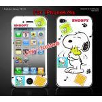ฟิล์มกันรอย iPhone4/4s ลายการ์ตูนหน้าหลัง - ลาย snoopy