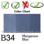 B34 - Manganese Blue