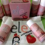 ELE Cream แอลลี่ ครีมมาส์กหน้า ELE ชุด สตอเบอรี่ ลิมิเต็ด. 1 ชุดประกอบด้วย = มาส์ก+โทนเนอร์+เจลล้างหน้า