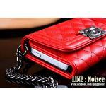 เคสหนัง Chanel 3 พับ - สีแดง