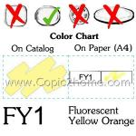 FY1 - Fluorescent Yellow Orange