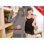 Top -063 เสื้อแฟชั่นระบายทั้งตัวใส่สบายผ้าชีฟอง สีดำ อกได้ 34 ((สินค้าพร้อมส่งค่ะ))