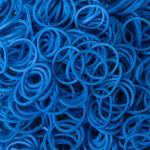 หนังยางถัก สีน้ำเงิน 1500 เส้น (Ocean Blue Rainbow Loom Bands)
