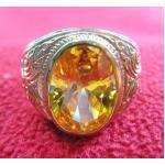 สินค้าจองค่ะ แหวนพลอยบุษราคัมเนื้อทองเหลือง(เหมาะกับราศีพิจิก,คนเกิดปีวอก)แบบเล็กค่ะ