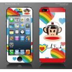 ฟิล์มกันรอย iPhone 5 ลายการ์ตูนหน้าหลัง - ลาย paul frank กัปตัน