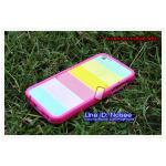 เคส iPhone5/5s - Rainbow ขอบชมพู