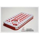เคส iPhone5 - Polka dot สีขาว-แดง