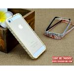 เคส iPhone SE - เคสเพชร BVLGARI สีทอง