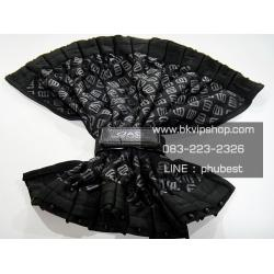 ผ้าม่าน D.A.D Type Monogram Black ตัวใหม่ ลายขาวชัด ผ้ามันเงา 1คู่พร้อมรางและสายรัดม่าน (Size M สูง 41cm)