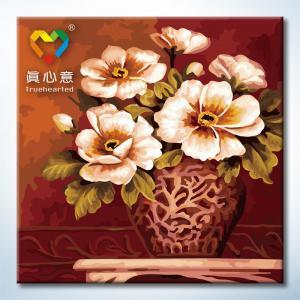 "TP020 ภาพระบายสีตามตัวเลข ""แจกันดอกไม้ลายสวย"""