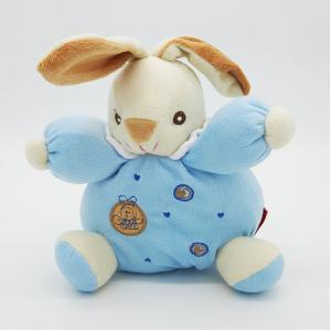 ตุ๊กตากระต่ายกรุ๋งกริ๋งสำหรับเด็กอ่อน สีฟ้า