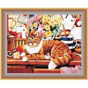 "TG021 ภาพระบายสีตามตัวเลข ""แมวน้อยนอนเล่น"""