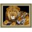 """1918 ภาพ diamond """"สองเสือสิงห์เจ้าป่า"""" thumbnail 1"""