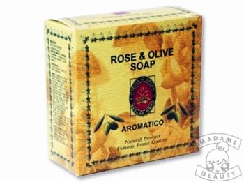Herbal Rose & Olive Oil Soap มาดามเฮง (สบู่ สมุนไพรกุหลาบ น้ำมันมะกอก มาดามเฮง)