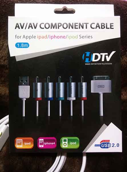AV Cable for iphone 4/4s