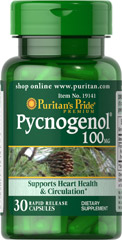 Puritan's Pride - Pycnogenol 100 mg 30 Softgels