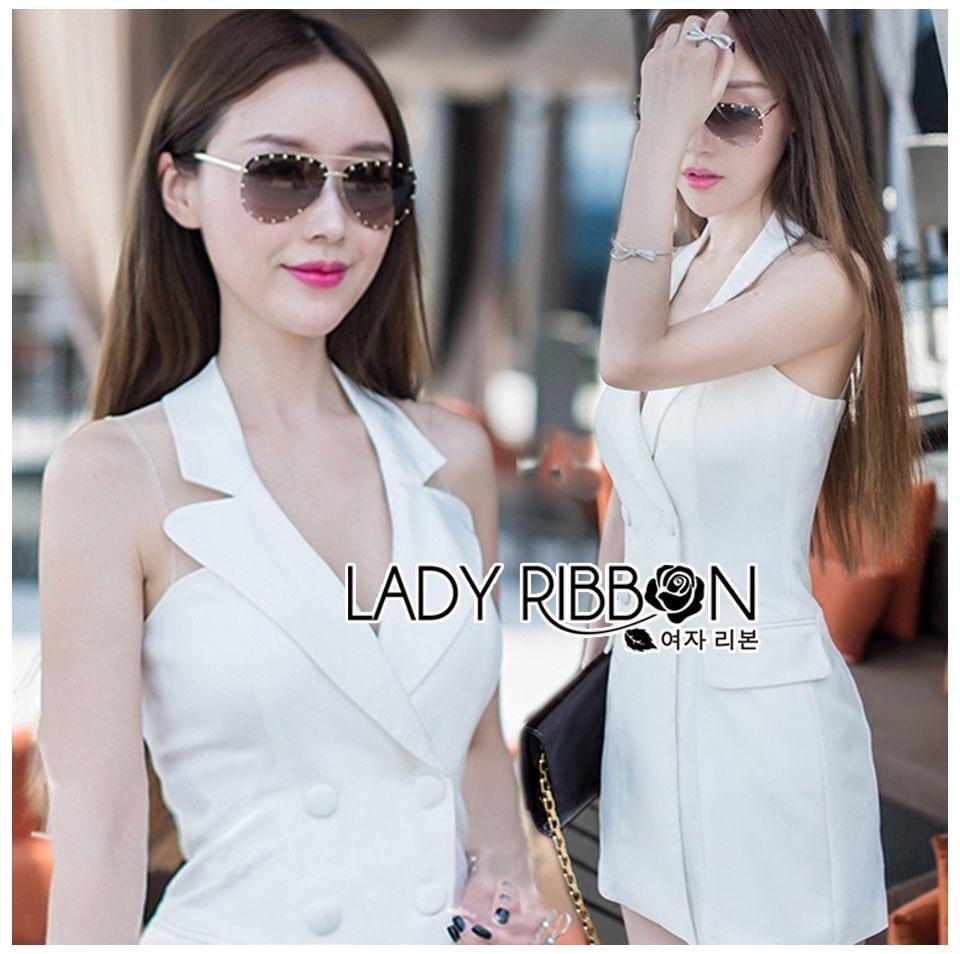 Dress สูทเดรสสีขาวสไตล์สมาร์ท