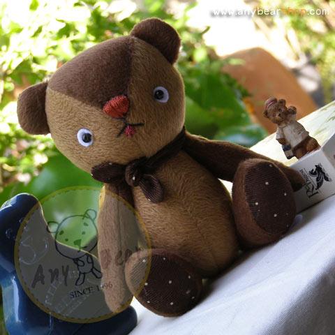 ตุ๊กตาหมีผ้าขนสีน้ำตาลขนาด 22 cm. - BandBand