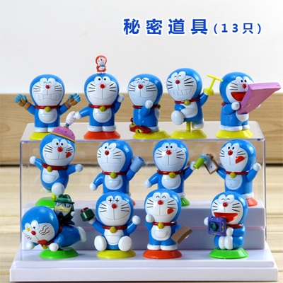 [Preorder] โมเดลโดเรมอน 13 แบบน่ารัก (ไม่มีฐาน) models duo a dream doll ornaments hand to do the 35th anniversary of the seal of the scene Doraemon Doraemon Toys and Gifts