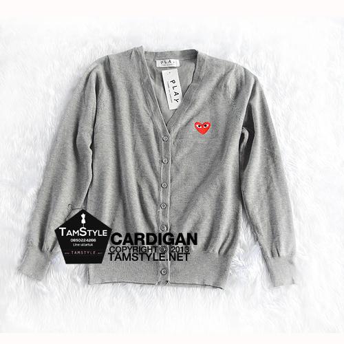 """Coat-107 เสื้อคลุมคาร์ดิแกน สีเทา play ผ้าสวยใส่สบาย อก 35"""" ยาว 24"""" (เสื้อคลุมพร้อมส่ง)"""