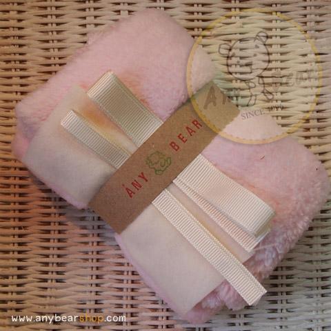 เซตผ้าขนนิ่ม (นำเข้าจากจีน) - สีชมพู
