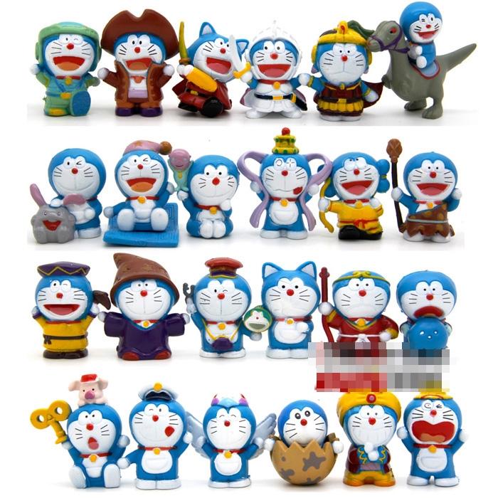 [Preorder] เซ็ทโมเดลโดราเอม่อน 24 ตัว 24 แบบ เก๋ๆ Limit spike Doraemon Doraemon cat duo a dream 24 paragraph full movie style doll ornaments hand to do