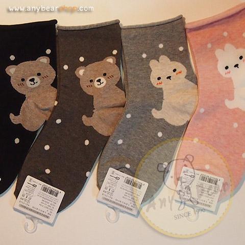 ถุงเท้าลายหมี,ลายกระต่าย