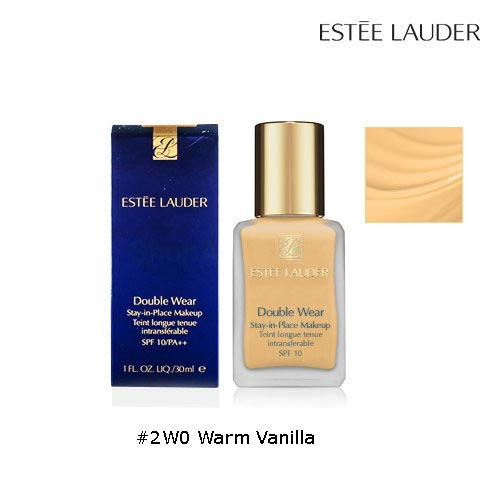 Estee Lauder Double Wear Stay-In-Place Makeup SPF10 PA++ #2W0 Warm Vanilla 30ml. (สีประมาณ NC 30-35)