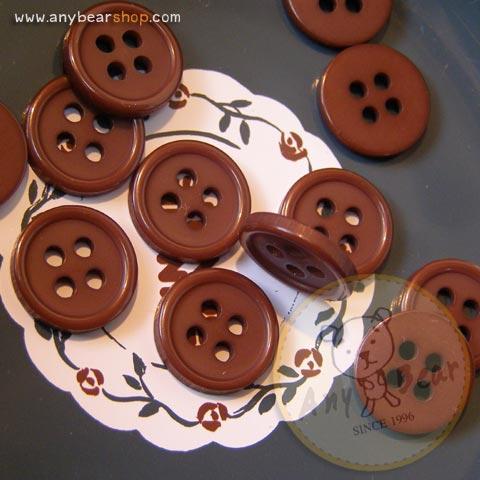 กระดุมขนาดเส้นผ่านศูนย์กลาง 11 mm. - dark chocolate