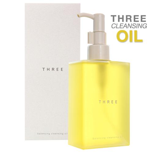 THREE Balancing Cleansing Oil 200 ml.(เคาเตอร์ไทยของแท้เบิกห้าง) คลีนซิ่งออยล์สูตรบริสุทธิ์ ประสิทธิภาพเยี่ยม ให้กลิ่นหอมอโรมา เหมือนอยู่ในสปา ตัวดัง