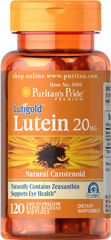 Puritan's Pride - Lutein 20 mg with Zeaxanthin 120 softgels
