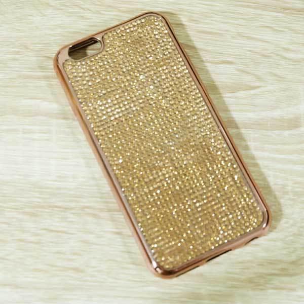 เคสไอโฟน 6/6s เพชรนิ่มทอง